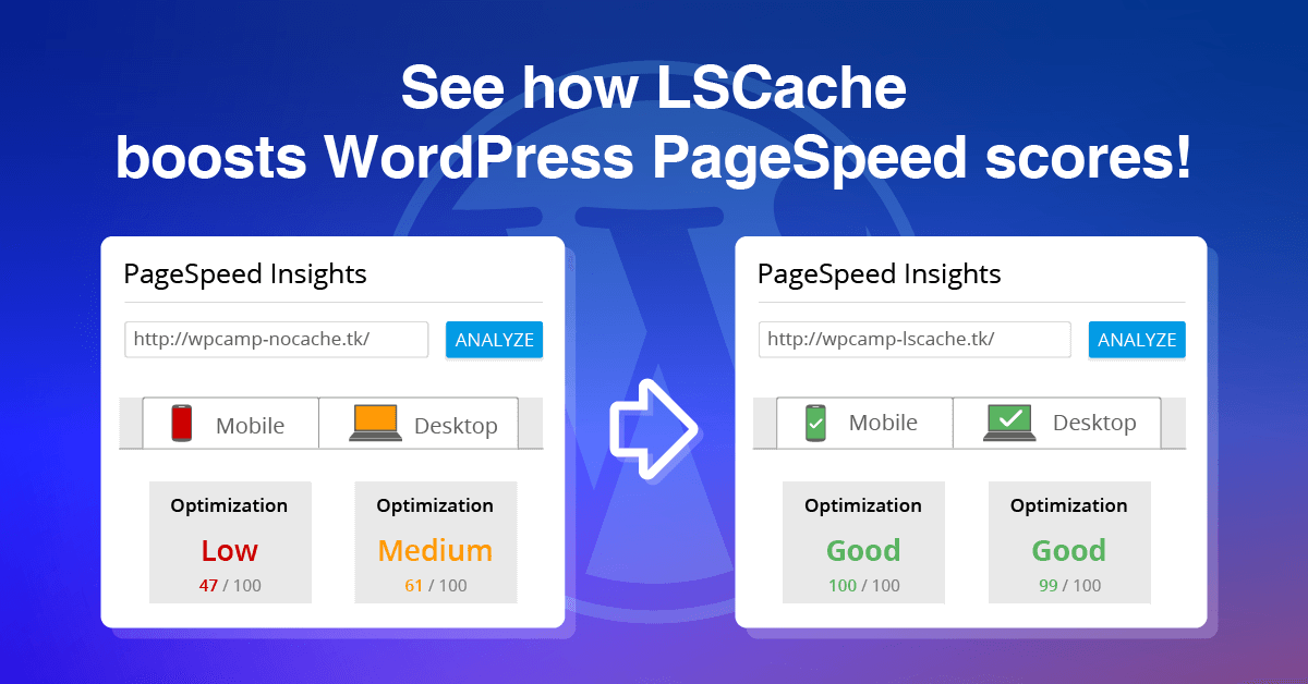 Improve your WordPress PageSpeed Score with LiteSpeed Cache