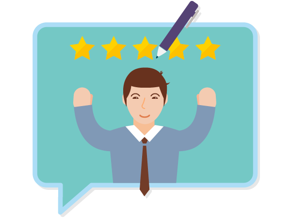 5 stars customer satisfaction